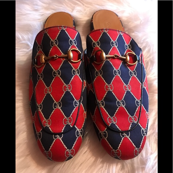 70280abf2 Gucci Shoes   Mens Navy Red Kings Gg Slippers   Poshmark